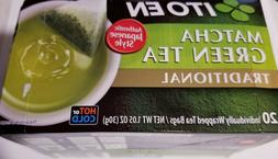 ITO EN MATCHA GREEN TEA TRADITIONAL HOT or COLD 20 WRAPPED T