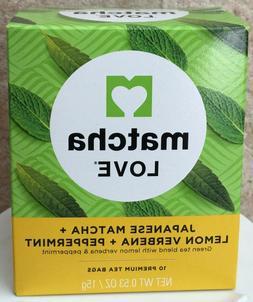 Matcha Love Tea, Green, Lemon Verbena Peppermint 6 Boxes x 1