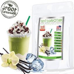 MATCHAccino - Naturally Flavored Matcha Green Tea Powder