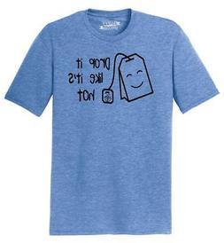 Mens Drop It Like It's Hot Tea Bag Graphic Tri-Blend Tee Dan