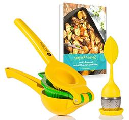 Viore Kitchen Lemon Squeezer w/ Tea Infuser | Manual Citrus