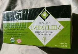 Touch Organic Mild Mint Green Tea Peppermint NEW Box 24 Bags