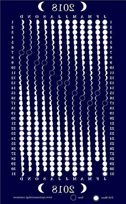 Equinox Moon Phase Kitchen Dish Towel  100% Cotton Tea Towel