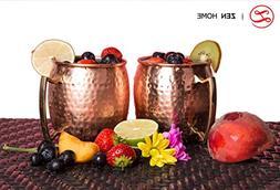100% Premium Moscow Mule Copper Mugs  16 Oz   Solid Handmade