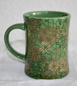 NEW Peet's Coffee & Tea Green Holiday 2009 Gold Snowflake
