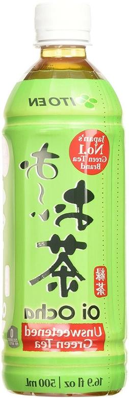 Ito En Oi Ocha Green Tea, Unsweetened, 16.9 Fluid Ounce , Un