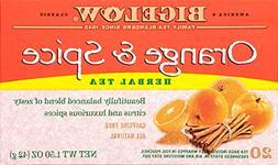 Bigelow Orange & Spice Herbal Tea 20 Bags  Caffeine-Free Ind