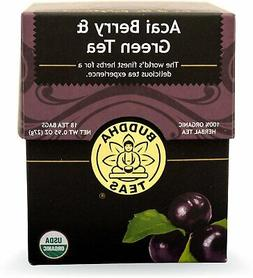 Organic Acai Berry & Green Tea - Kosher, Contains Caffeine,