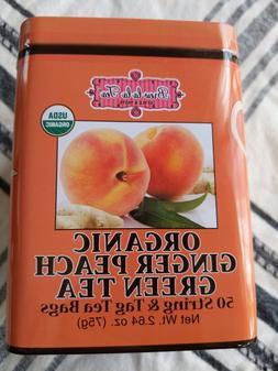 Brew La La Organic Ginger Peach Green Tea 50 String And Tag