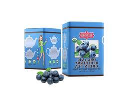 Brew La La Tea Organic Green Tea Bags, Blueberry, 100 Count