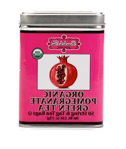 Brew La La Tea Organic Green Tea Bags, Pomegranate, 100 Coun