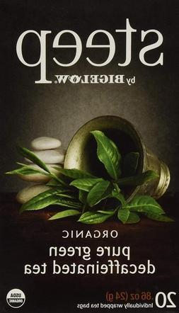 Steep by Bigelow Organic Pure Green Decaffeinated Tea 20 Cou