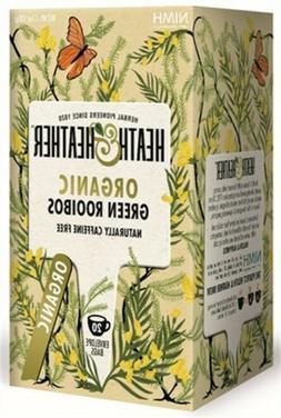 Heath & Heather Organic Green Rooibos Tea -20 Ct - Pack of 1