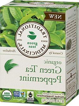 Traditional Medicinals Tea - Organic - Green Tea - Ppprmnt -