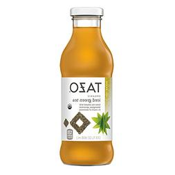 Tazo Organic Iced Tea, Green Tea, 13.8 Ounce Glass Bottles,
