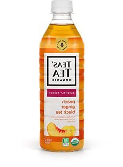Teas' Tea Organic Lightly Sweet Peach Ginger Black Tea 16.9