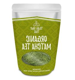 TEAki Hut Organic Matcha Green Tea Powder 2 oz ,