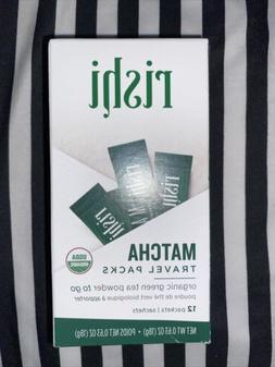 Rishi Matcha Travel Packs, Organic Green Tea Powder, 12 Pack