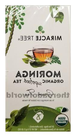 MiracleTree   Organic MORINGA Tea with Green Tea   Caffeine