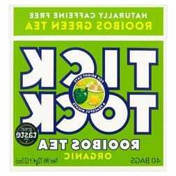 Tick Tock Organic Rooibos Green Tea Bags 40 per pack