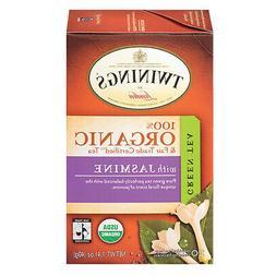 Twinings Organic Green Jasmine Tea, 20 pk, .07 oz