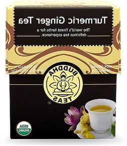 Organic Turmeric Ginger Tea - Kosher, Caffeine-Free, GMO-Fre