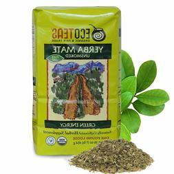 2 Pack ECOTEAS Organic Unsmoked Yerba Mate Tea Pure Loose Le
