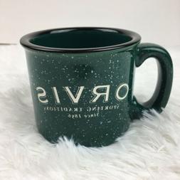Orvis Green Stoneware Coffee Tea Mug Cup Sporting Traditions
