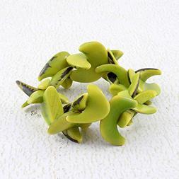Pale Green Bracelet, Stretch Bracelet made of Tagua Nut, Eco