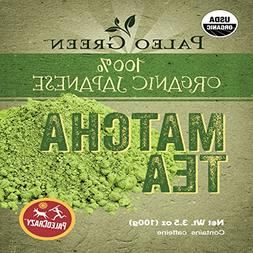 PaleoCrazy Organic Matcha Powder Japanese Tea for Energy, Fo