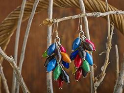 Paper Bead Cluster Musana Earrings - Multicolored - Fair Tra