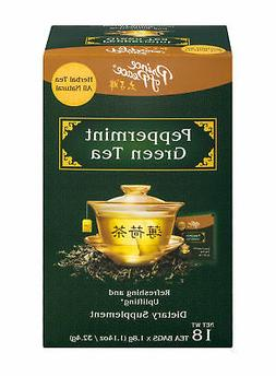 Prince of Peace Peppermint Green Herbal Tea Bags - 18 count