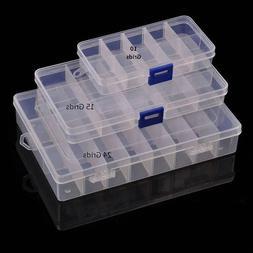 Plastic Box 24/15/10 Grid Adjustable Organizer Jewelry Bead