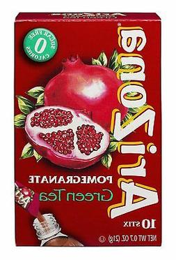 AriZona Pomegranate Green Tea Iced Tea Stix Sugar Free, 10 C