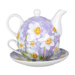 Grace Teaware Porcelain 4-Piece Tea For One