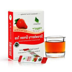 Strawberry Green Tea to go All Natural Unsweetened Tea Extra