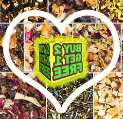 Premium Herbal Fruit Tea Blends - Loose Leaf, Rooibos, Black
