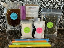 Premium Original Green Tea Boba Bubble Tea Kit Classic Milk