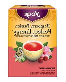 Raspberry Passion Perfect Energy Yogi Teas 16 Tea Bag