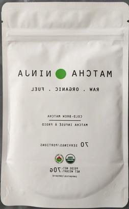 Matcha Ninja 100% Raw Organic Matcha Green Tea. 70 Servings.