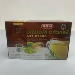 HEB Sencha Matcha Green Tea Single Serve Cups 12 Count Pods