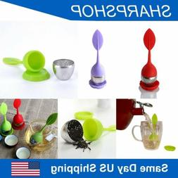 Silicone Stainless Steel Tea Leaf Infuser Loose Strainer Her