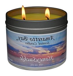 Amaretto Bay Soy Wax Scented Candles 16oz Aromatherapy Trave
