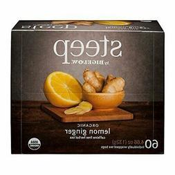 Steep by Bigelow organic lemon ginger caffeine free herbal t