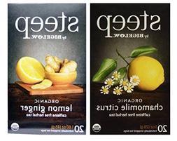 Steep By Bigelow Organic Caffeine Free Herbal Tea 2 Flavor V