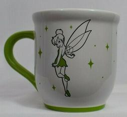 Disney Store Tinkerbell Tink Large Coffee Tea Mug White Gree