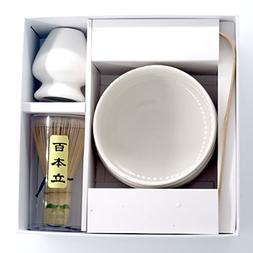 Super 4in1 White Japanese Matcha Green Tea Ceremony Giftset