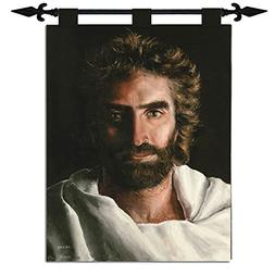 """Tapestry-Jesus Prince Of Peace Tapestry 26""""x36"""" with Hanging"""