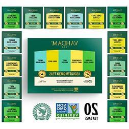 VAHDAM, Green Tea Sampler, 5 TEAS - Tea Variety Pack | Assor