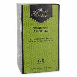 Harney and Sons Premium Tea Bags, Japanese Sencha, 20 Count,